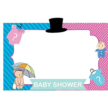 Buy PARTY PROPZ Little Man Little Miss PHOTOBOOTH Frame 2FT/ Baby ...