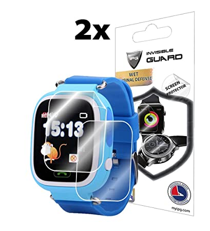 IPG for Q90 Kids SMARTWATCH Screen Protector (2X) Invisible Ultra HD Clear Film Anti Scratch Skin Guard - Smooth/Self-Healing/Bubble -Free