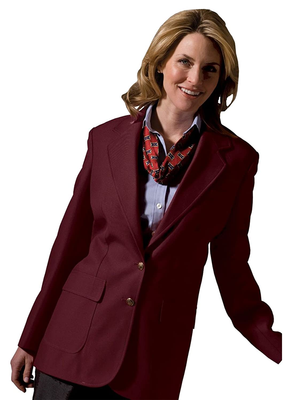 Edwards Garment BLAZER レディース バーガンディー 14  B07BXX5LD6