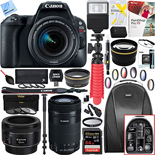 Canon EOS Rebel SL2 24MP SLR Digital Camera 2249C002 + EF-S