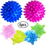 WENTS Tumble Drying Balls 6pcs Solid Laundry Ball Washing Ball Decontamination Anti-Winding Reusable Laundry for Dryer Colorful Plastic