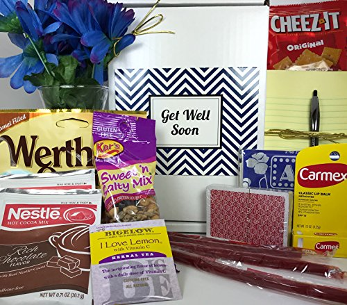 Get Well Gift Box Basket - For Surgery / Injury / Cold / Flu / Illness - Over 2 Pounds of Care, Concern, and Love - Great Care Package - Send a Smile Today! Doctors Orders Gift Box