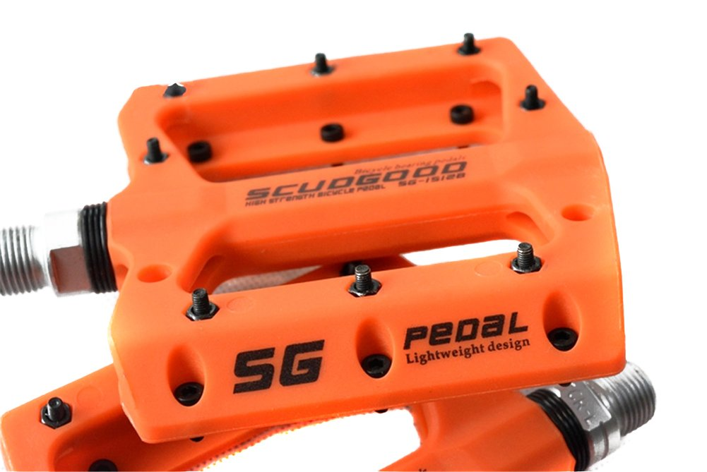 SCUDGOOD Mountain Bike Pedals 9 16 Light Weight Road Riding Bicycle Pedals for AM FR DH DJ BMX,1 Pair
