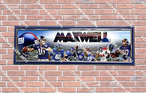 Personalized Customized New York NY Giants Poster With Frame, With Your Name On It, Party Door Poster, Room Art Decoration, Wall Decor]()
