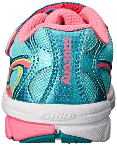 Saucony Girls Baby Ride Sneaker (Toddler/Little Kid) Turquoise/Pink/Citron