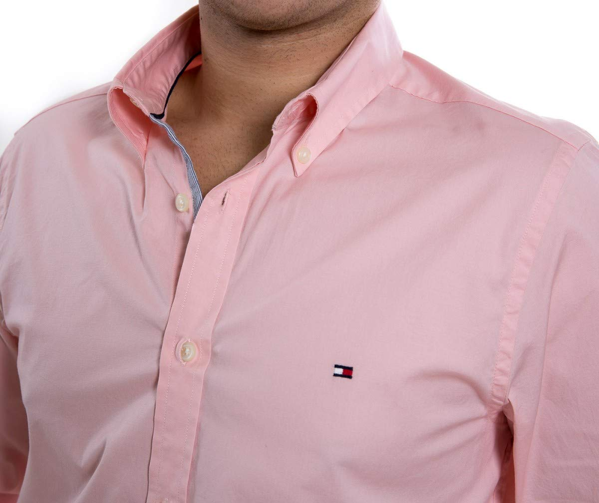 6738ddeee Camisa Social Masculina Tommy Hilfiger Slim Th0857872321  Amazon.com.br   Amazon Moda