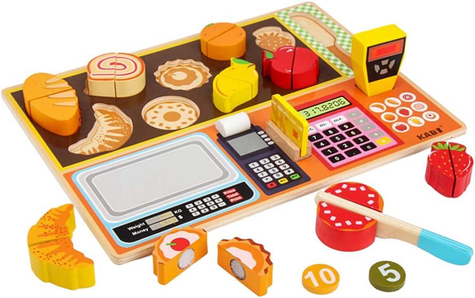 TOYANDONA Juguete Interactivo Caja Registradora para Niños Frutería Casher Aprendizaje Temprano Jugar Juguete: Amazon.es: Juguetes y juegos
