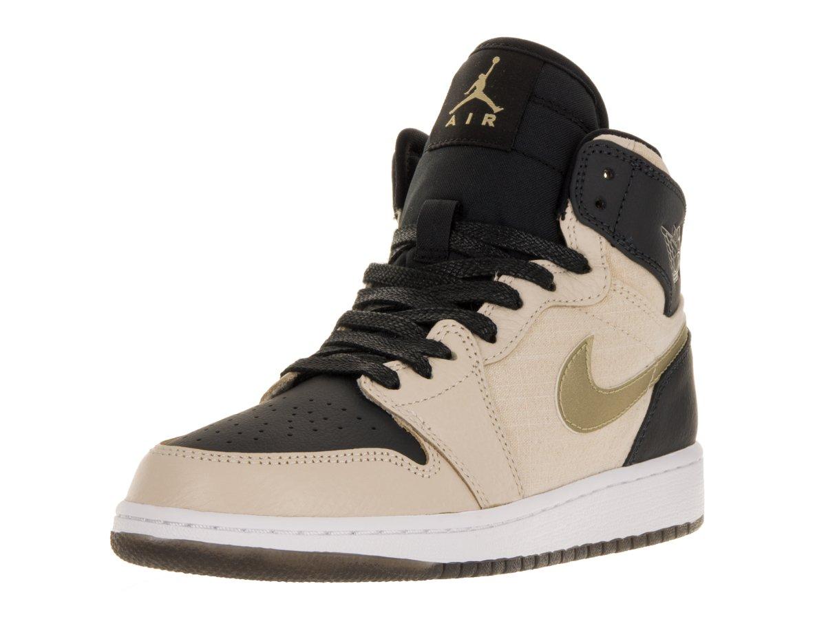 Jordan 1 Ret Hi Prem HC Big Kids Style, PRL White/Metallic Gold Star/Black, 6.5