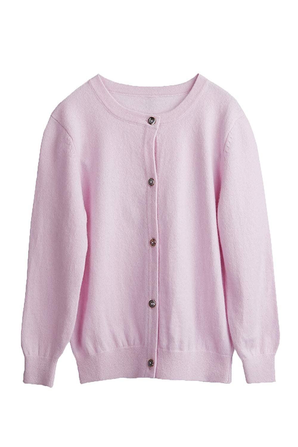 CHARIXI Baby Girls 100/% Pure Cashmere Long Sleeve Crew Neck Cardigan Sweater