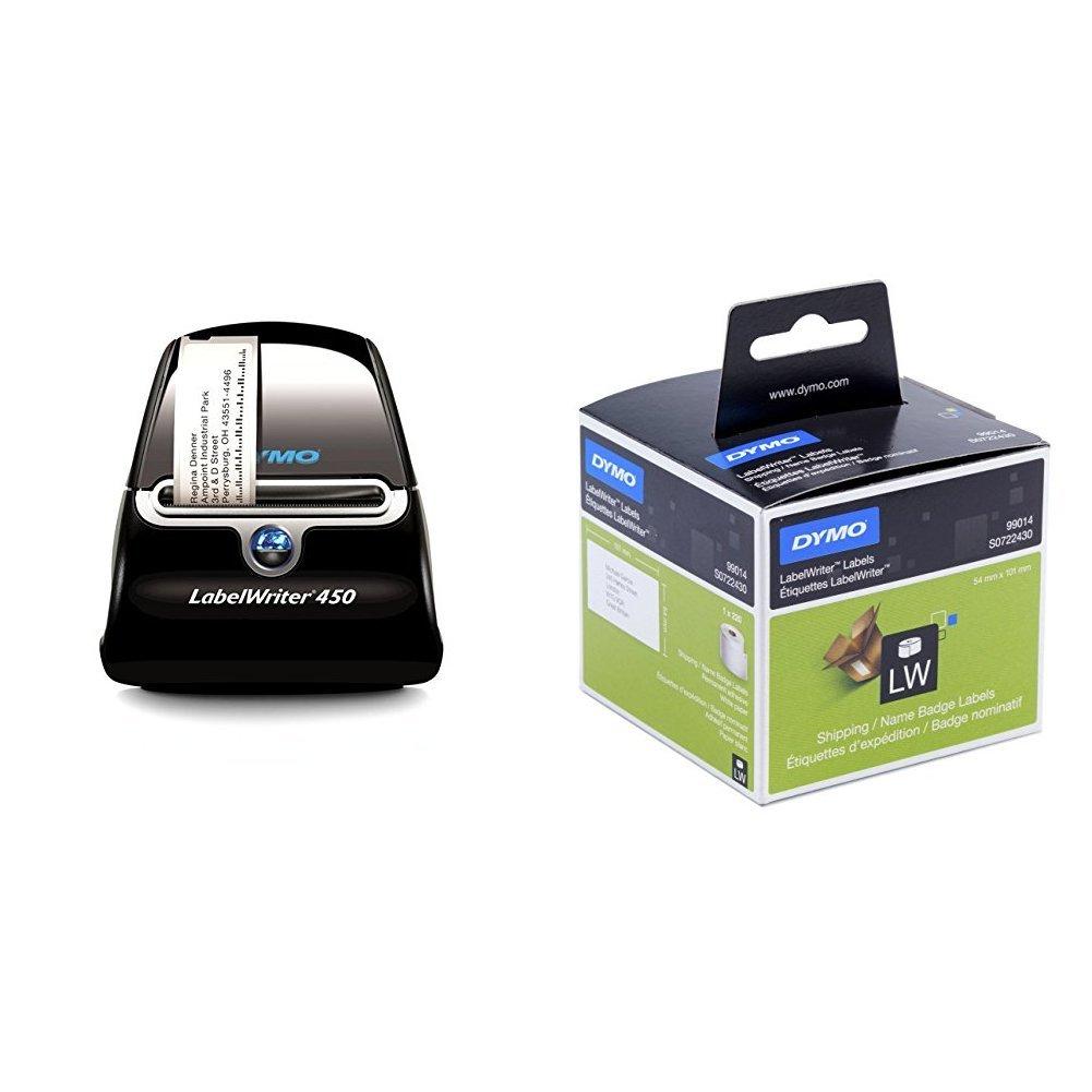 Dymo LabelWriter 450 Imprimante d'Étiquettes USB et 3 Rouleaux d'Étiquettes