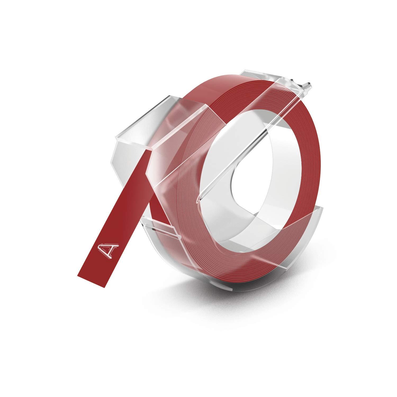 Dymo S0898150 - Cinta de gofrado, 9 mm x 3 m, color rojo brillante ...