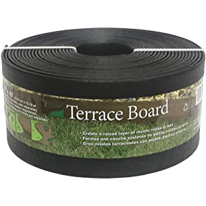 "Master Mark Plastic Prod. Edgi FBA_94440 Master Mark Terrace Board Landscape Edging 4"" X 40 ' Black"