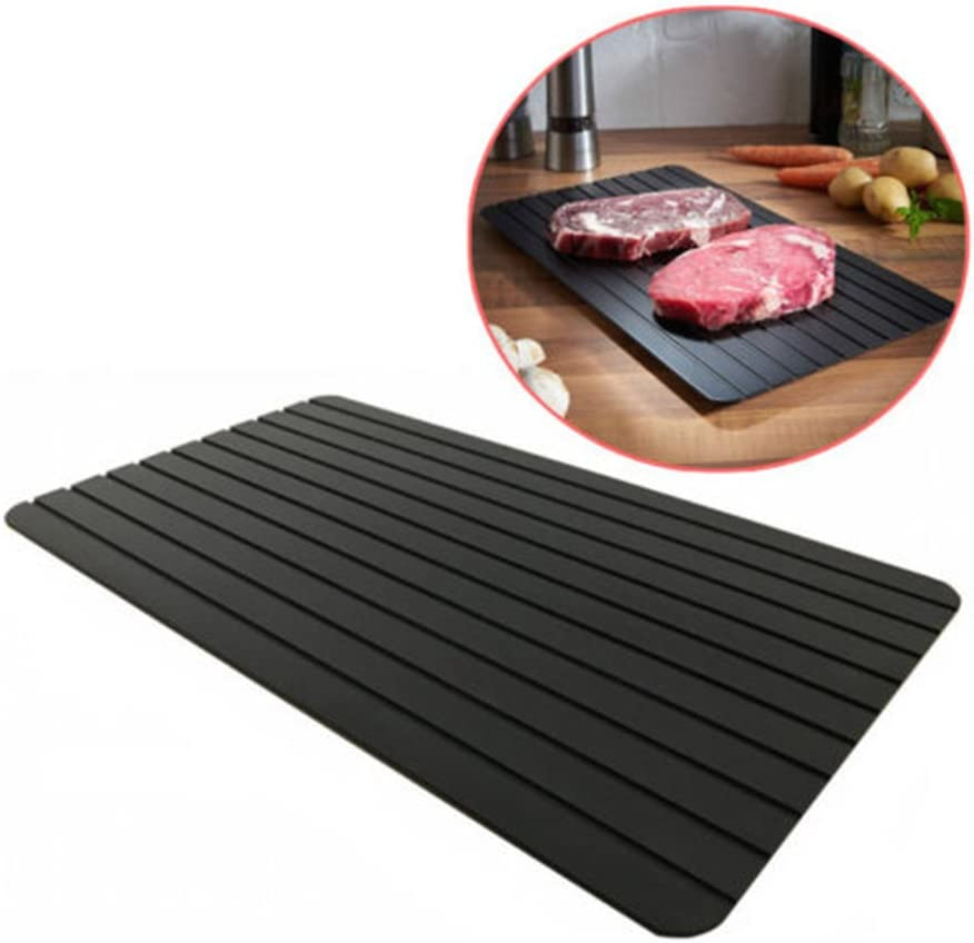 Miracle Thaw Defrost Tray,Easy Thaw Tray Defrost Food Quickly and Safely,No Power,No Chemistry (11.6x8.2 inch)