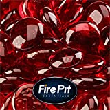 Red Fire Glass for Indoor and Outdoor Fire Pits or Fireplaces | 10 Pounds | Ruby, Fire Glass Beads, 1/2 Inch
