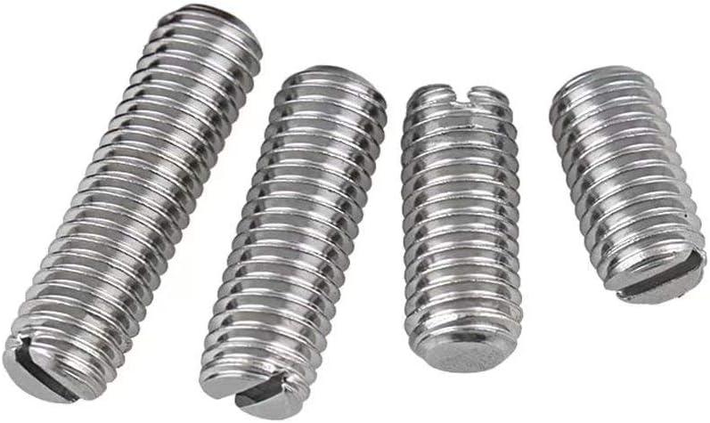 XIZONLIN M3 Flat Head Set Screw Slotted Headless Set Screw Machine Screw//304 Stainless Steel