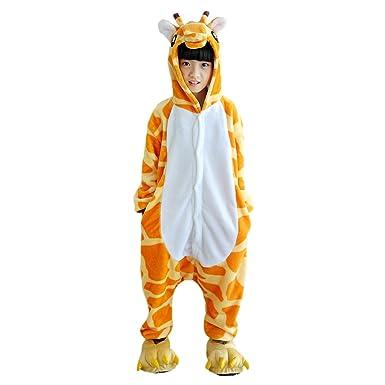 5cd3972f688c6 DarkCom Beaux Enfants Grenouillère De Vêtements De Nuit De Dessin Animé  Cosplay Onesies Pyjama Girafe