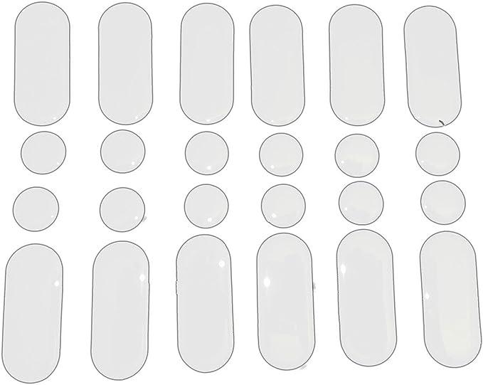 Pack Of 24 Motorcycle Strips /& Dots Sticker Repair Motorbike Tank In Clear