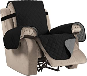 H.VERSAILTEX Water Repellent Recliner Chair Cover Reclining Slipcover for Living Room Recliner Furniture Protector with Elastic Strap Seat Width: 22