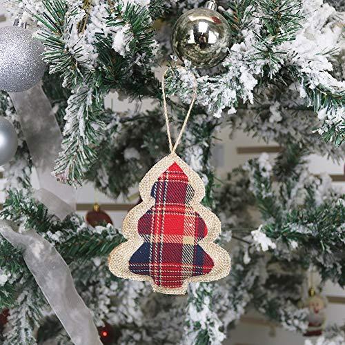 OWUYUXI 8 Pcs Burlap Christmas Ornaments 2020 Set, Funny Unique Mini Christmas Tree Ornaments Bulk, Rustic Christmas…