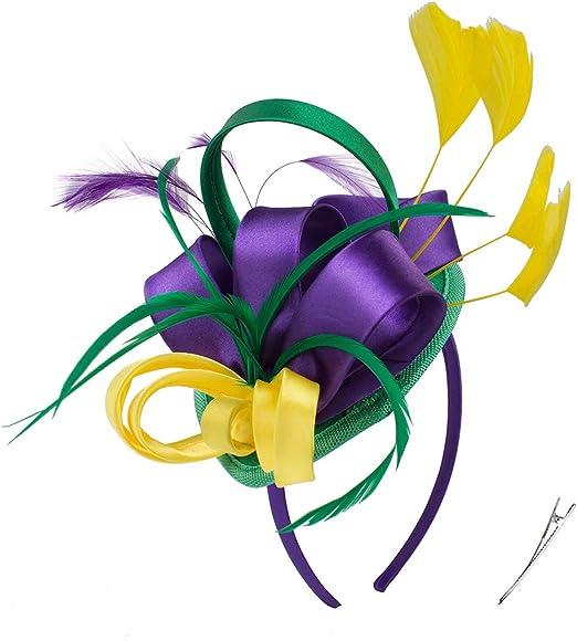 Wedding Funeral  Mini Hat.Costume Feather Hair Clip Head Accessory.Headpiece Black Sinamay Fascinator  Derby Race Bridal Church Hat