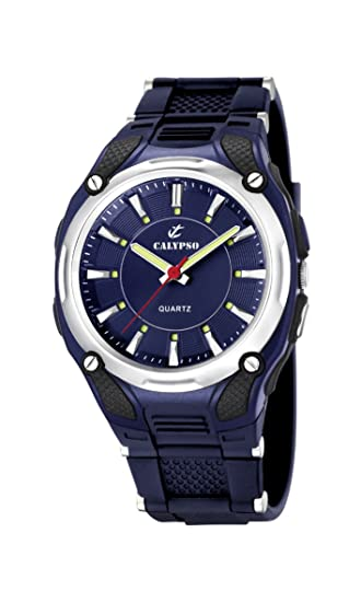 Calypso 5560/3 - Reloj de Caballero de Cuarzo, Correa de Goma Color Azul