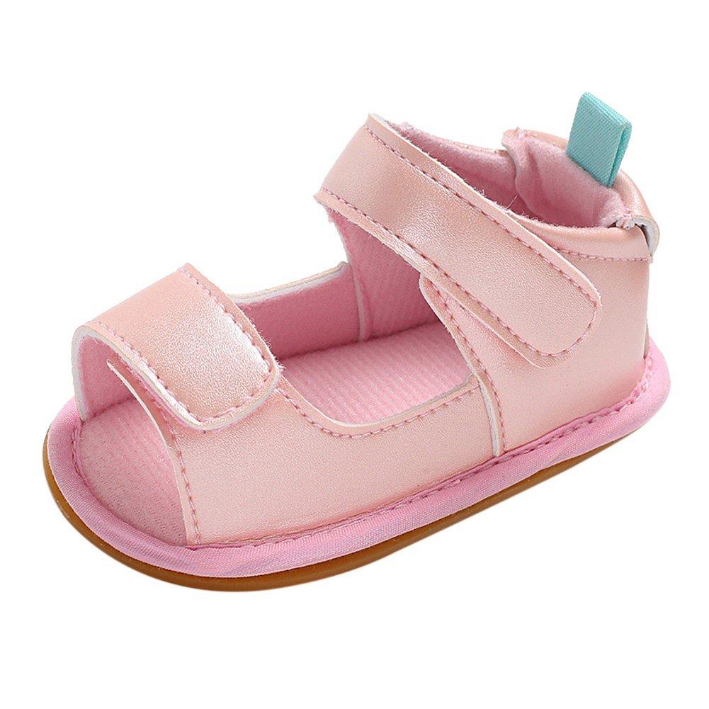 Weixinbuy Newborn Baby Girls Boys Rubber Sole Anti Slip Summer Sandals Shoes