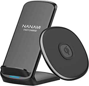 NANAMI Bundle of Wireless Chargers Set, Fast Wireless Charging Stand and Pad, Type-C Ports Charging Station for Home Office