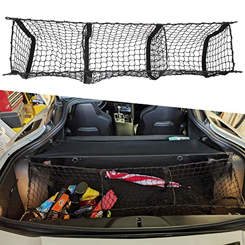 Three Pocket Cargo Net Trunk Cargo Organizer Storage Bag For C7 Corvette 2015 2016 2017 2018