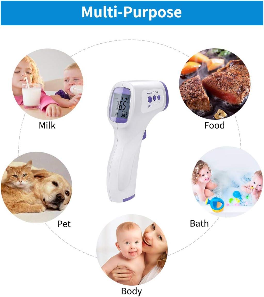term/ómetro Digital infrarrojo Digital sin Contacto para beb/és Term/ómetro de Frente Adultos ni/ños 2 Piezas lecturas precisas instant/áneas