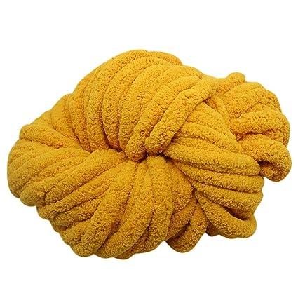 Chunky Chenille Yarn Chunky Yarn Massive Yarn Extreme Arm Knitting Giant  Chunky Knit Blankets Throws (EE)