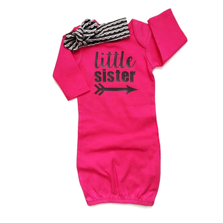 Yihanshangmao Infant Baby Girls Letter Printed Sleep Gowns Long Sleeve Sleep Sack Blanket 0-12Months)