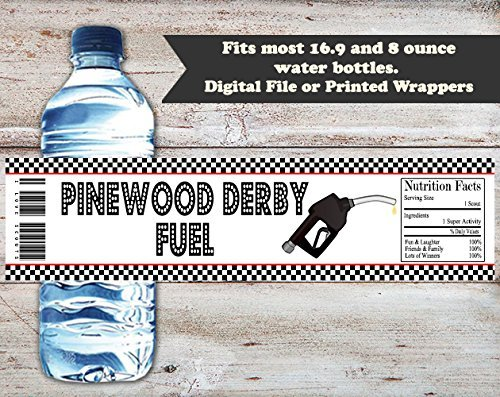 amazon com pinewood derby water bottle wrappers set of 10 party
