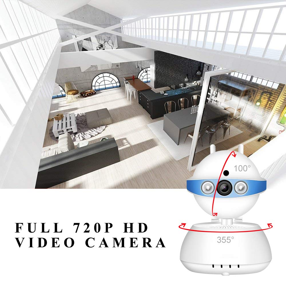 Security Camera WiFi Camera-ALIKE 720P Indoor Tilt Wireless Security IP Camera Full HD Home Video Surveillance System with HD Night Vision,Motion Detection Pan,Two-Way Audio,Cloud Storage(Blue)