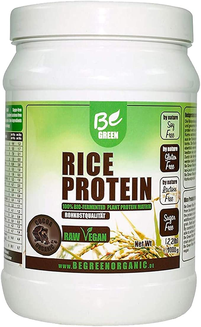 Rice Protein 1000g por BE GREEN