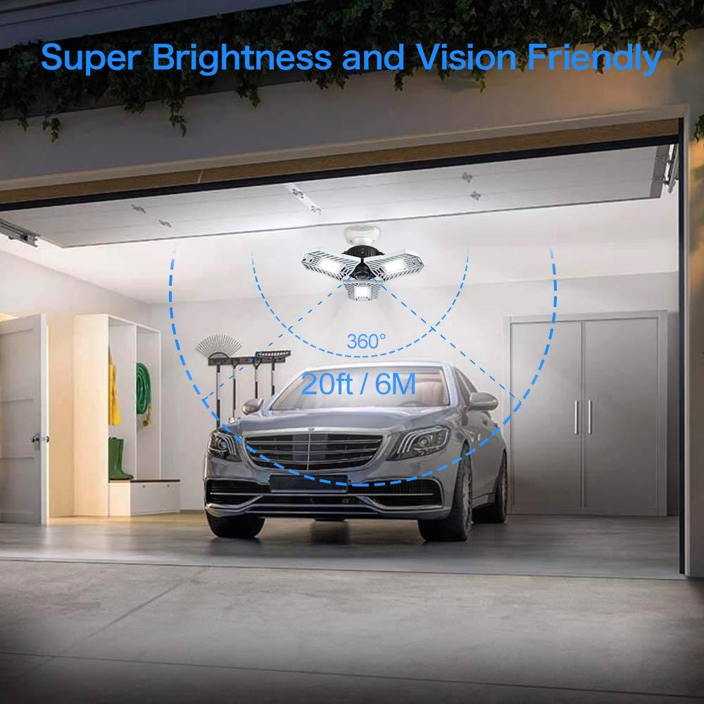 Amazon.com: Luces LED de techo para garaje, luz de garaje ...