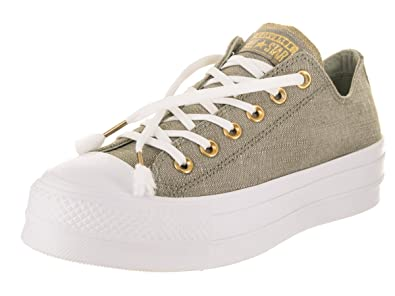 a20da311c1d6f7 Converse Womens Chuck Taylor All Star Washed Linen Dark Stucco Driftwood  White Sneaker -