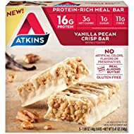 Atkins Protein-Rich Meal Bar, Vanilla Pecan Crisp, 5 Count