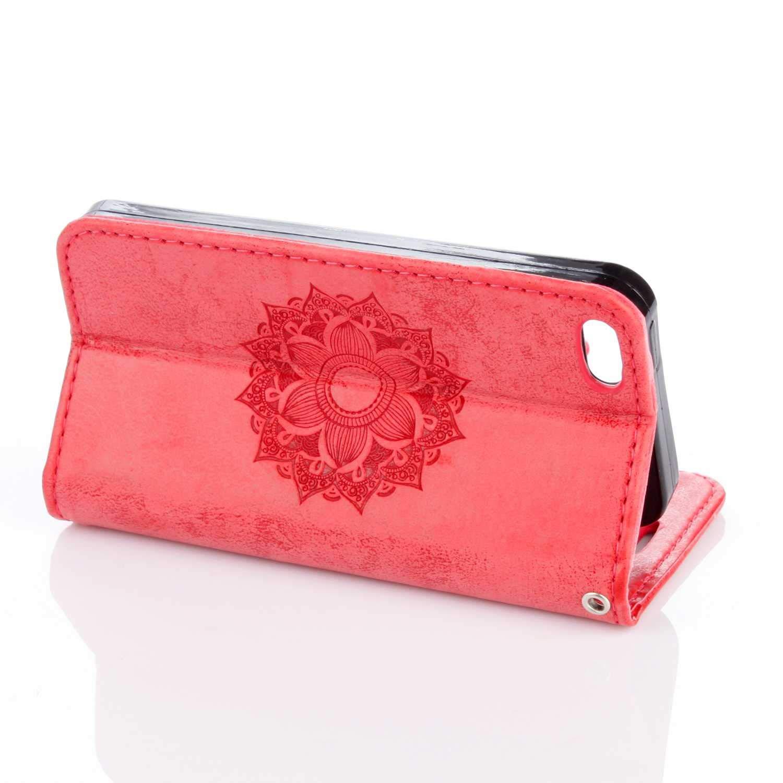 Bear Village/® Housse Imprim/é en PU Cuir /à Rabat Coque de Protection avec emplacements pour Cartes pour Apple iPhone SE #1 Or Coque iPhone SE 5 5S 5 5S