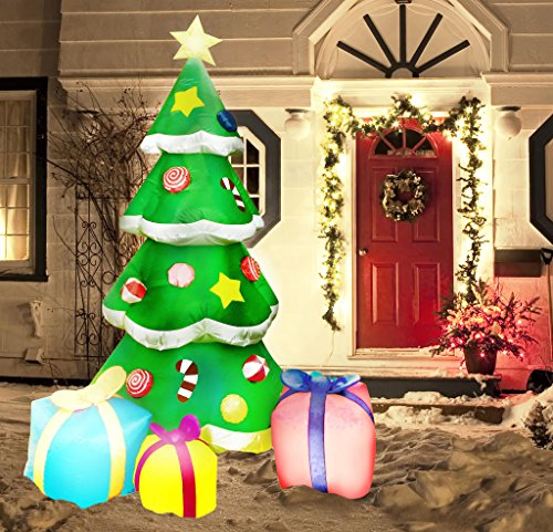 7 foot led light up giant christmas tree - Blow Up Christmas Tree