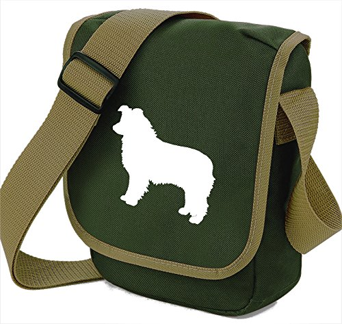 Of Colours Sheepdog Shoulder Silhouette Reporter White Gift Olive Dog Border Bag Collie Choice AHqwUU