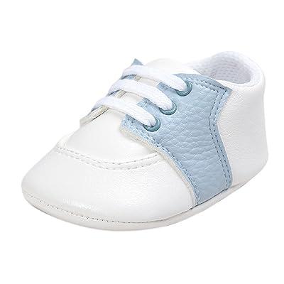 Weixinbuy Baby Boy's Girl's Soft Sole Slip-on Vintage Oxford Shoes Prewalker