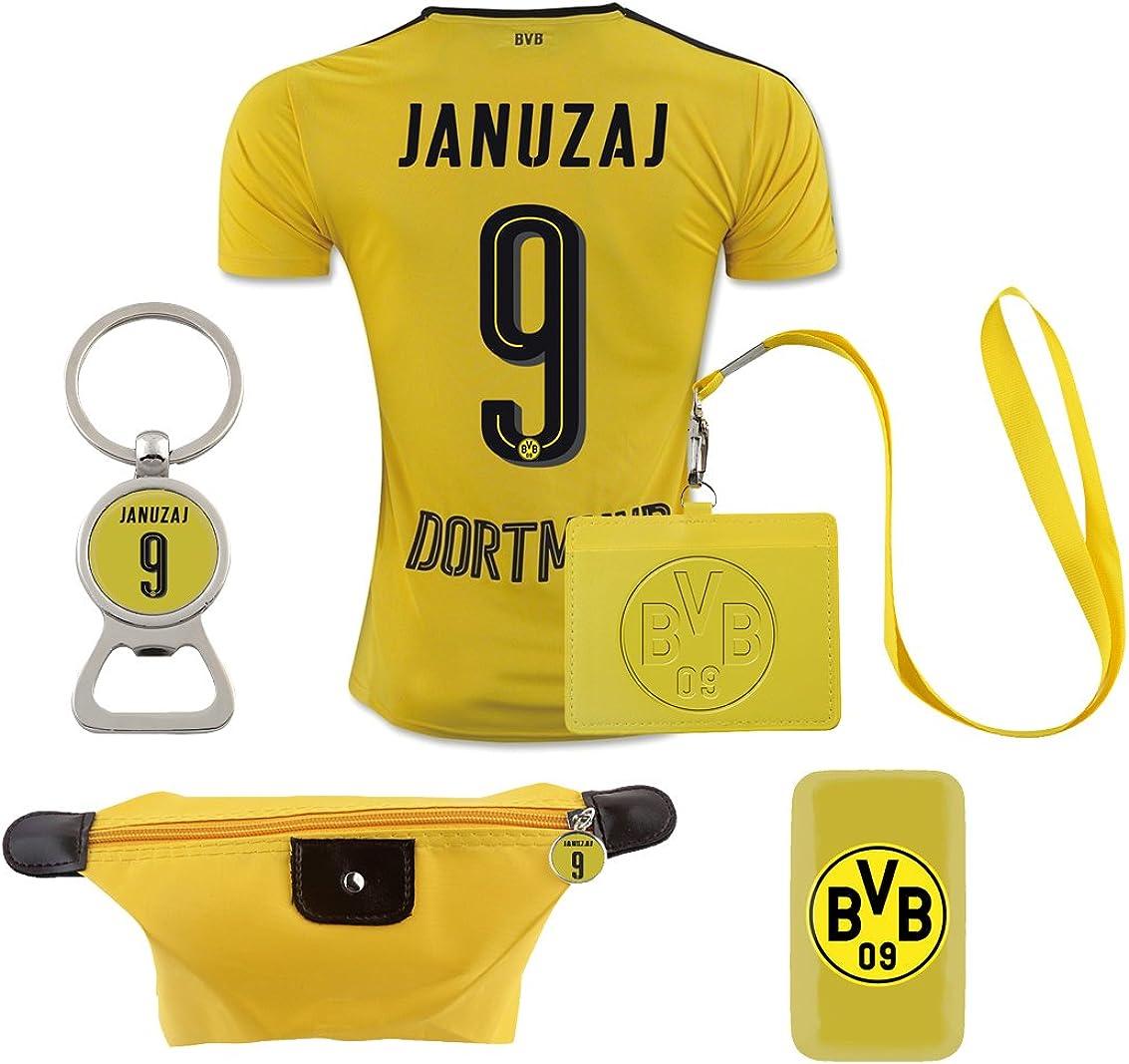 #9 Januzaj (6 in 1 Combo) Dortmund Home Match Adult Soccer Jersey 2016-17
