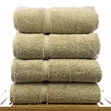 Chakir Linens Turkish Cotton Luxury Bath Towel Set of 4, Driftwood Deal