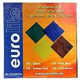 Eurolite 24 x 24 cm Accessory Foil Set in Four Colours by Eurolite