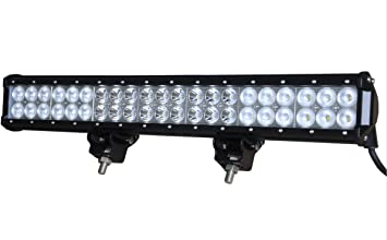 Amazon Com 20 Inch 126w Cree Led Work Bar 11340lm Spot Flood Combo Light Offroad Lamp Automotive