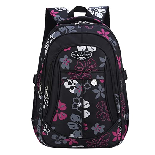 e551e048c7 Amazon.com  Naituo Floral Printed Children Backpack School Bag for ...