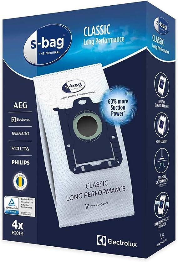 AEG S-Bag - Bolsas para aspiradora AEG UltraOne UltraSilencer (Pack de 4 – E201 E201B): Amazon.es: Hogar