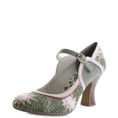 e37a1cb87545e9 Ruby Shoo Damen Pumps Rosalind Floral Blüten Riemchen Schuhe  Amazon ...