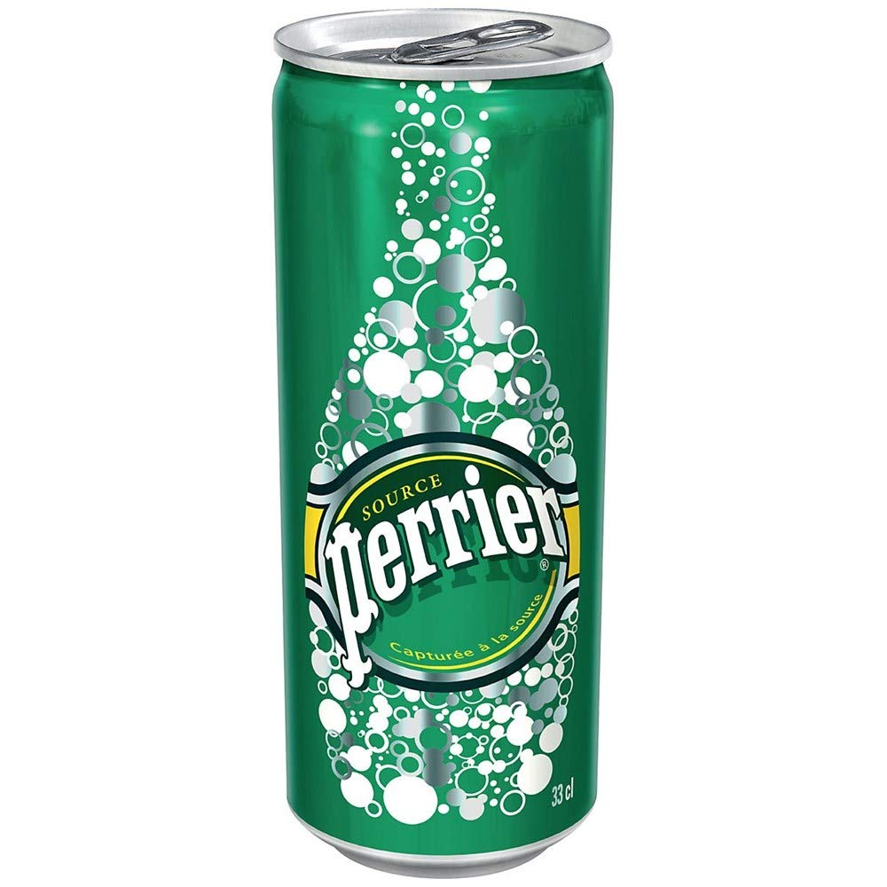 2 x 24 Perrier Sparkling Water 330ml Cans (48 Total)