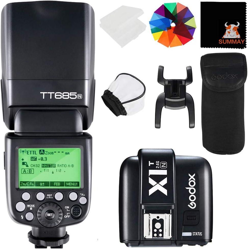Godox Tt685n Ttl 2 4 G Wireless Blitz Gn60 1 8000 Hss Blitzgerät Speedlite Mit X1t N
